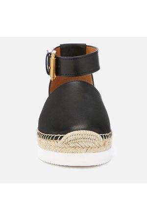 See by Chloé Women Espadrilles - Women's Glyn Leather Espadrille Flat Sandals