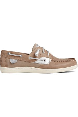 Sperry Top-Sider Women Sneakers - Women's Sperry Songfish Starlight Leather Boat Shoe Dove, Size 5M