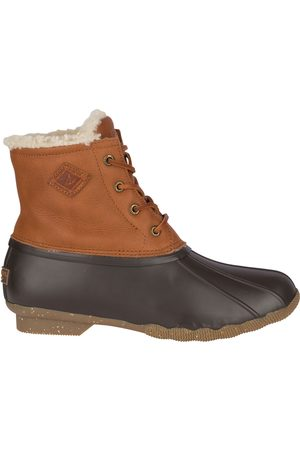 Sperry Top-Sider Women Snow Boots - Women's Sperry Saltwater Winter Luxe Duck Boot Tan, Size 5M