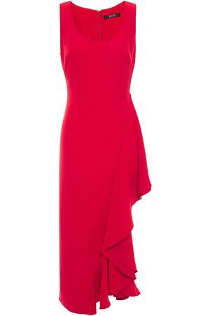 Badgley Mischka Woman Ruffled Stretch-cady Midi Dress Size 10