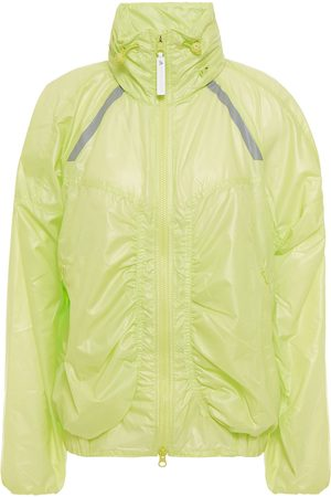 adidas Women Jackets - Woman Ruched Neon Shell Track Jacket Chartreuse Size S
