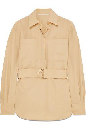 Stella McCartney Woman Belted Wool-twill Shirt Size 48