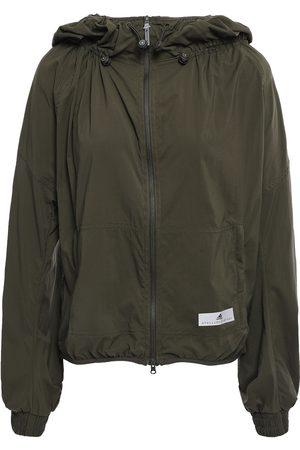 adidas Women Jackets - Woman Run Light Printed Shell Hooded Track Jacket Leaf Size M