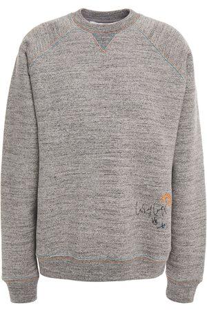 Victoria Beckham Women Sweatshirts - Woman Embroidered Mélange Cotton-fleece Sweatshirt Size 2
