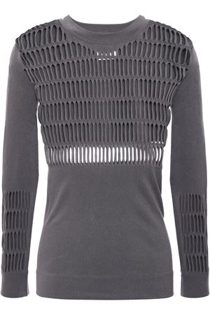 adidas Women Tops - Woman Laser-cut Stretch Top Anthracite Size L