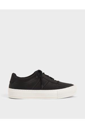 CHARLES & KEITH Women Platform Sneakers - Satin Platform Sneakers