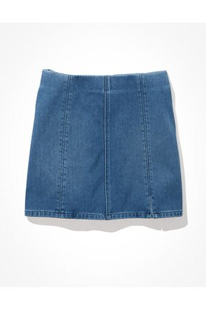 American Eagle Outfitters Dream Super High-Waisted Denim A-Line Skirt Women's S