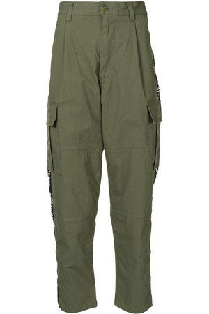 A BATHING APE® Men Cargo Pants - Logo-tape cargo trousers