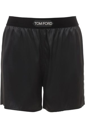 Tom Ford Logo Silk Satin Mini Shorts