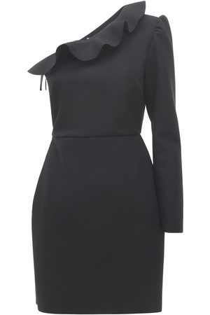 Msgm One Shoulder Ruffled Mini Dress