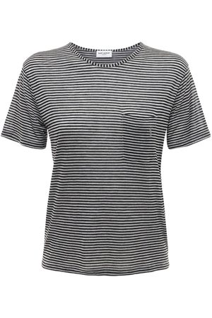 Saint Laurent Women T-shirts - Striped Viscose Jersey T-shirt