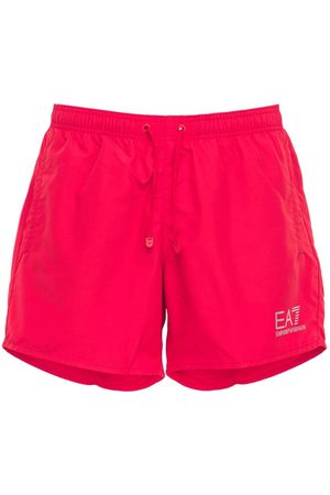 EA7 Logo Printed Swim Shorts