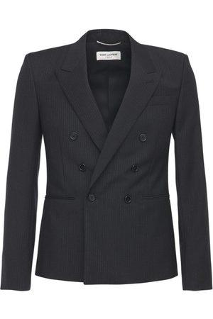 Saint Laurent Pinstripe Mohair & Wool Jacket
