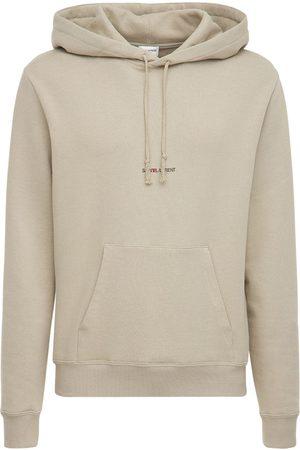 Saint Laurent Logo Detail Jersey Sweatshirt Hoodie