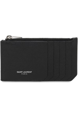 Saint Laurent Men Wallets - Leather Zip Card Holder