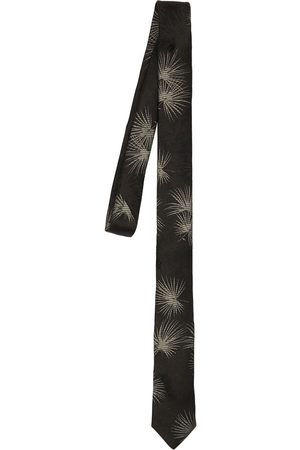 Saint Laurent Dark Jungle Silk Tie