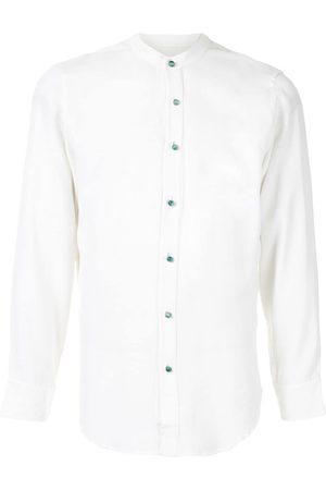 Lisa Von Tang Band collar shirt