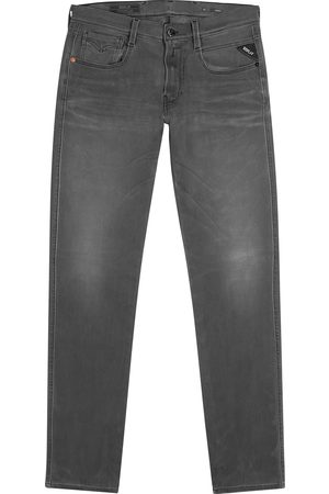 Replay Anbass Hyperflex+ grey slim-leg jeans