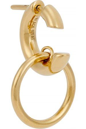 Maria Black Men Hoop - Twin -plated hoop earring