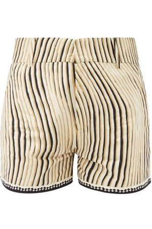 LE SIRENUSE, POSITANO Women Shorts - High-rise Wind-print Cotton Shorts - Womens - Print
