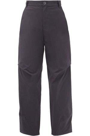 SEA Women Pants - Scarlett Cotton-blend Cropped-leg Trousers - Womens - Navy