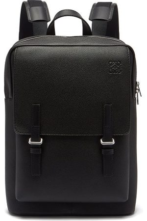 Loewe Military Grained-leather Backpack - Mens
