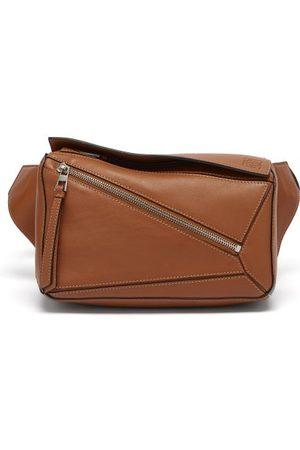 Loewe Men Bags - Puzzle Leather Belt Bag - Mens - Tan
