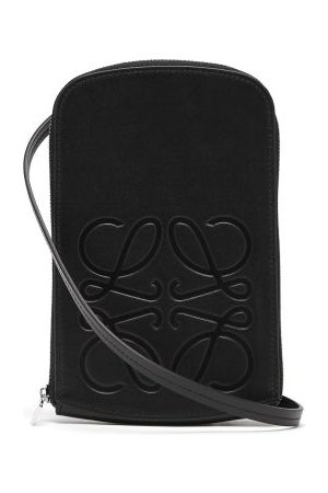 Loewe Anagram-logo Leather Neck Pouch - Mens