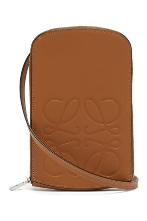 Loewe Men Bags - Anagram-logo Leather Neck Pouch - Mens - Tan