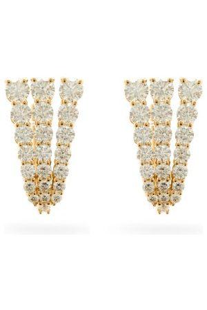 Melissa Kaye Women Earrings - Aria Fan Diamond & 18kt Earrings - Womens