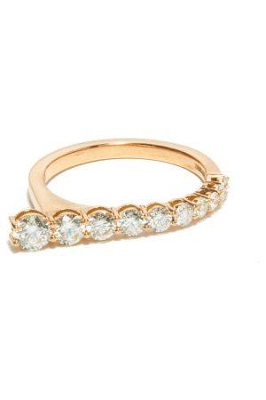 Melissa Kaye Women Rings - Aria Diamond & 18kt Rose- Ring - Womens - Rose