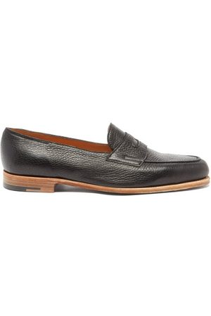 JOHN LOBB Men Loafers - Lopez Grained-leather Penny Loafers - Mens