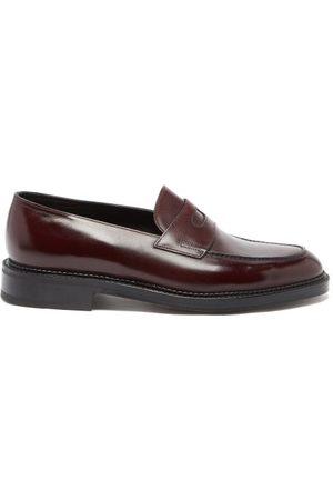JOHN LOBB Lopez Leather Penny Loafers - Mens - Burgundy