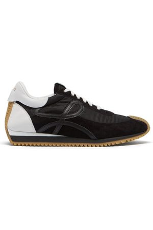 Loewe Flow Runner Shell And Suede Trainers - Mens - Multi