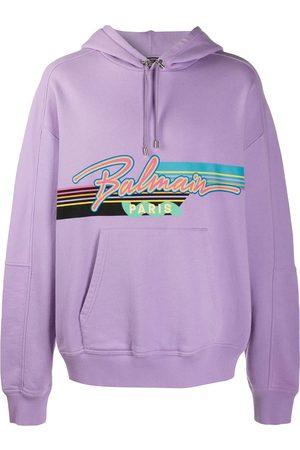 Balmain Men Hoodies - Graphic print hoodie