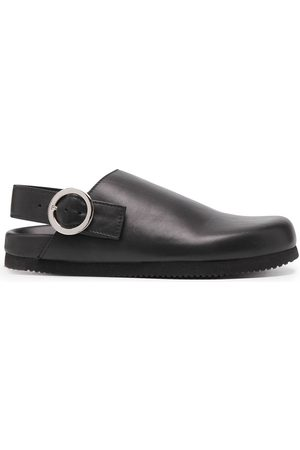 Y'S Flat leather mules