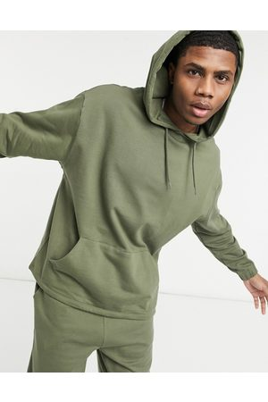 ASOS Organic tracksuit with oversized hoodie & oversized sweatpants in khaki