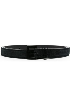 Saint Laurent Suede buckle belt