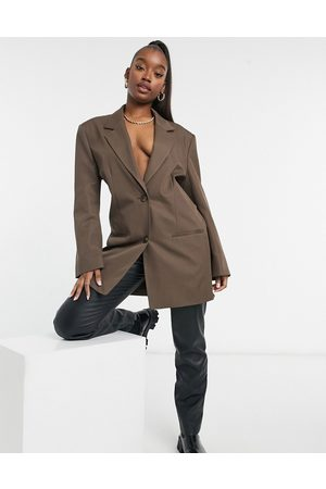 ASOS Boxy single breasted dad suit blazer in