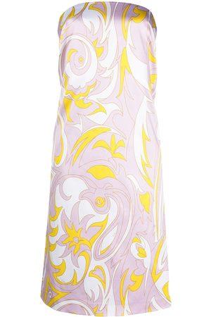 Emilio Pucci Dinamica-print strapless dress