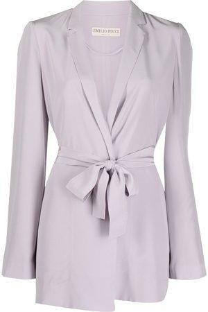 Emilio Pucci Tie-waist silk blazer