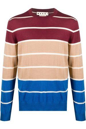 Marni Men Sweatshirts - Colour-block wool jumper