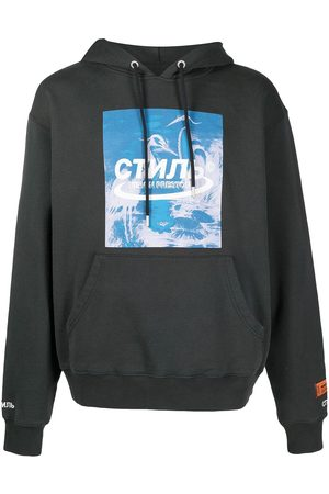 Heron Preston Logo print drawstring hoodie