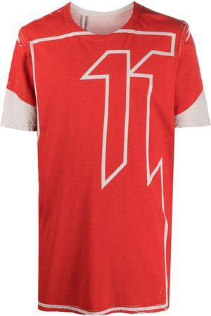 11 BY BORIS BIDJAN SABERI Oversized logo print t-shirt