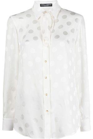 Dolce & Gabbana Polka dot foulard blouse