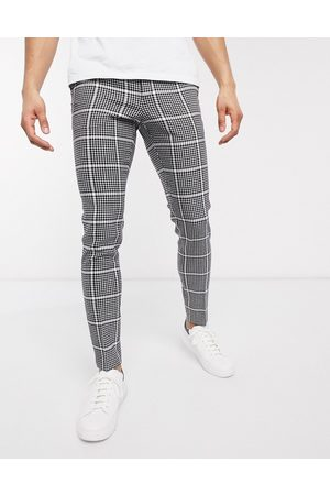 ASOS Smart super skinny pants in wool mix check and side adjusters