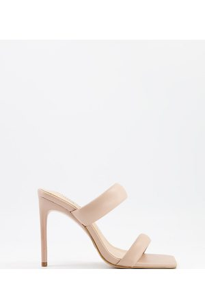 Simmi Wide Fit Simmi London Wide Fit Skye padded mules in
