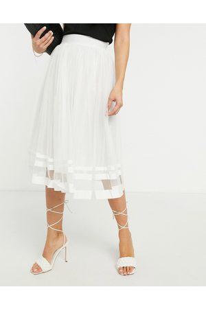 Little Mistress Women Midi Skirts - Tulle midi skirt in ice