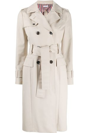 Thom Browne Unconstructed belted trench coat - Neutrals
