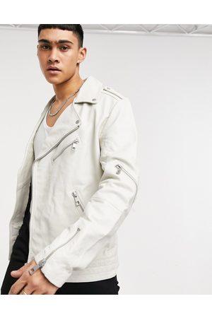 ASOS Leather biker jacket in